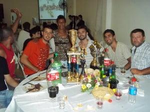 El equipo de Las Cabras básquet también fue reconocido por sus títulos