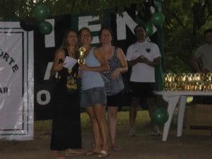 Marina Colaneri con sus compañeras Sava y Santillán