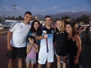 Pablo Martinez junto a Mauro y familia en los juegos Odesur