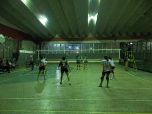 Escobar Vóley - San Miguel en el polideportivo municipal
