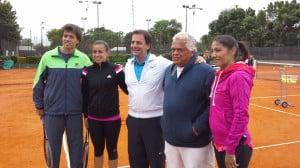 Carlos Berlocq, Paula Ormaechea, Ariel Sujarchuk, Alejo Raffo y Paola Suarez