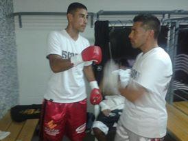 Veron previo a subir al ring en Las Parejas- Santa Fe