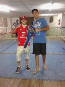 """Nico Paz junto con el """"Chino"""" Verón"""