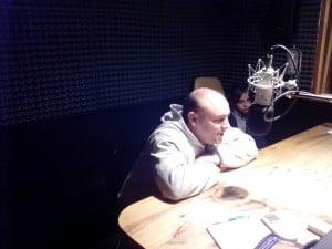 Fangio en los estudios de FM Líder