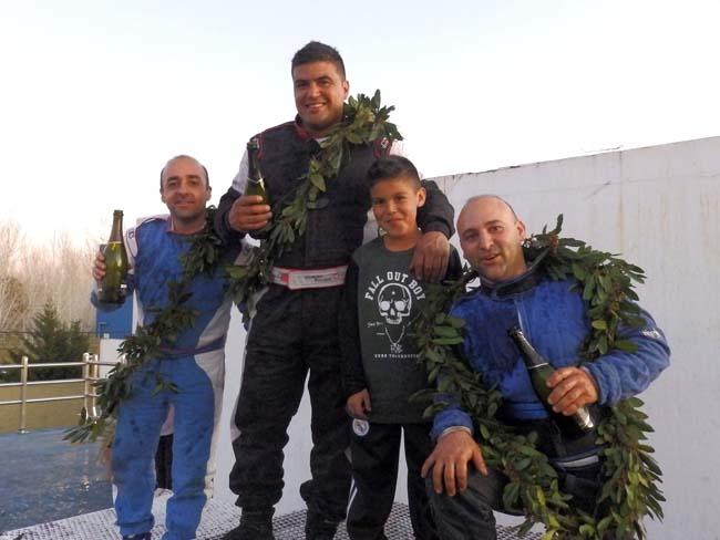 Romero - Roldan - Fangio podio de la TC 1100