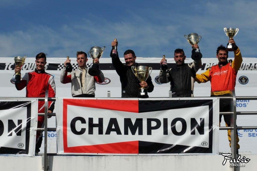 Lucas Villar, corrió la segunda de ASM Fiat Uno
