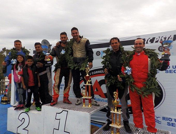 Gastón D´Angelo y Diego  Fangio, ganadores del gran premio en La Plata