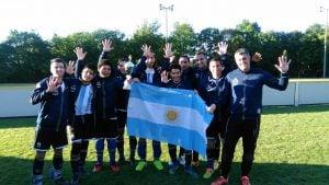 Los Murciélagos luego de obtener la Copa 4 Naciones en Alemania