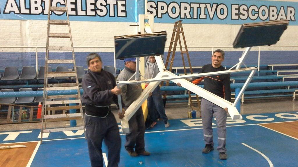 En Sportivo Escobar, avanzan las obras de cara al federal