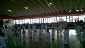Pantallazo de la actividad en los diferentes polideportivos de Escobar