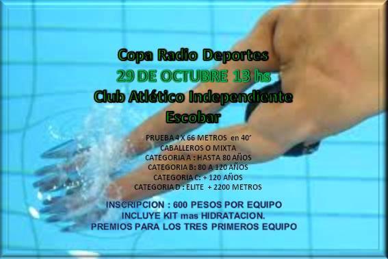 Se acerca una nueva edición de la Copa Radiodeportes Escobar de Natación
