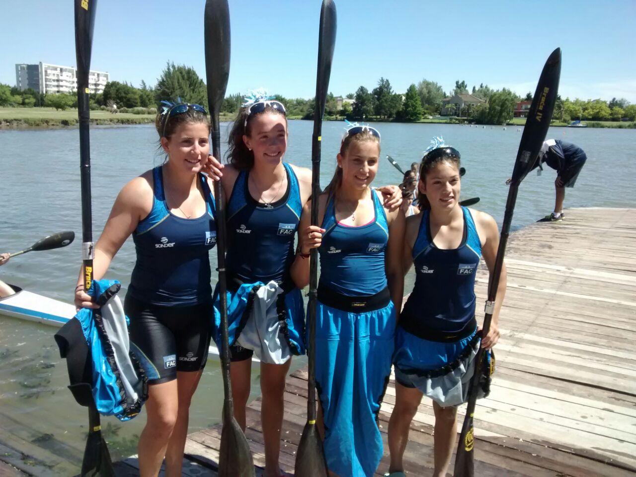 Equipo argentino de damas Juniors K4