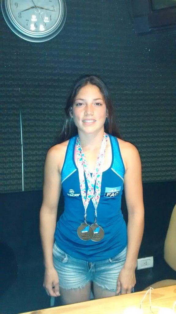"""Candela Acosta: """"Estoy muy contenta de ganar tres medallas de oro"""""""