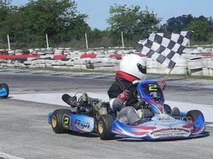 Lucas Monroy, ganó en Zarate y es puntero en la categoría Junior de Kart Plus