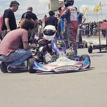 Lucas en la pista del kartodromo de Zárate