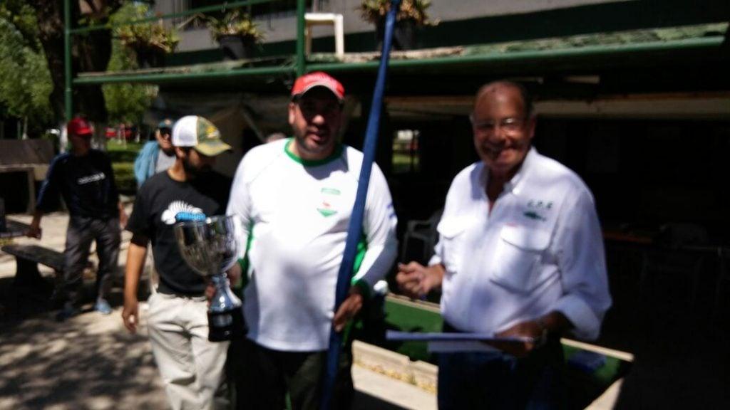 Martín Seijo, ganó el primer concurso del año del Club de Pescadores de Escobar