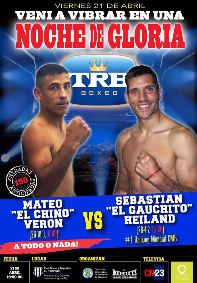 Verón y Heiland reeditarán un clásico del boxeo