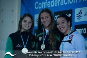 Candela Nieves, subcampeona Nacional  de natación en 100 y 200 metros estilo pecho