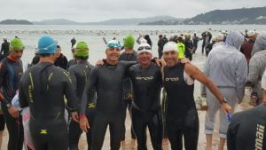 Oscar Giroto y Javier  Lago, realizaron una muy  buena actuación en el Ironman de Florianópolis