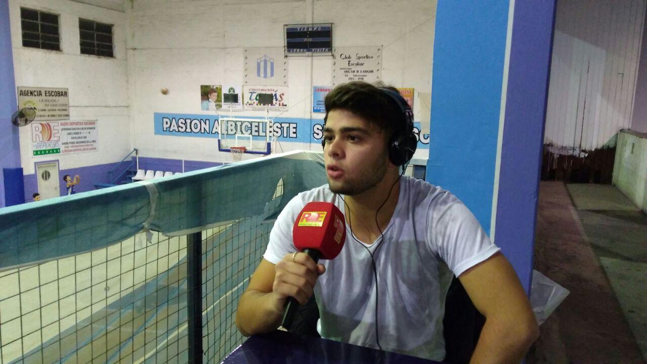 Tomas Scaldaferro es entrevistado en vivo por Radiodeportes Escobar