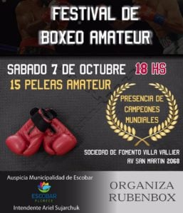 VillaVallierorganizará una velada de Boxeo Amateur con grandes figuras
