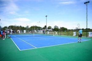 Las canchas de tenis del Polideportivo de Matheu fueron inauguradas