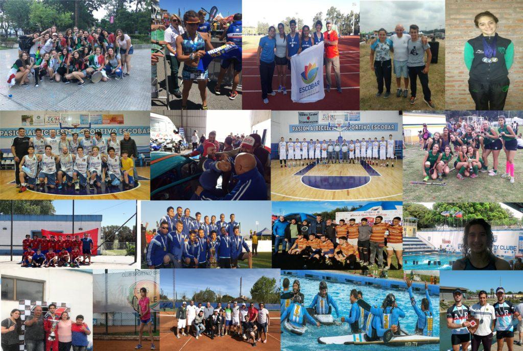 Los destacados del deporte escobarense 2017