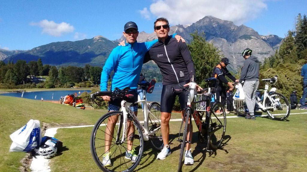 Giroto y Lago estuvieron presentes en el Ironman de Bariloche