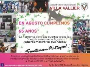 Villa Vallier, cumple 65 años de vida y abre la fomento para compartir su historia