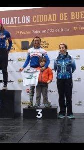 Yanina Minaglia, clasificó 3ra  en el Duatlón de Buenos Aires