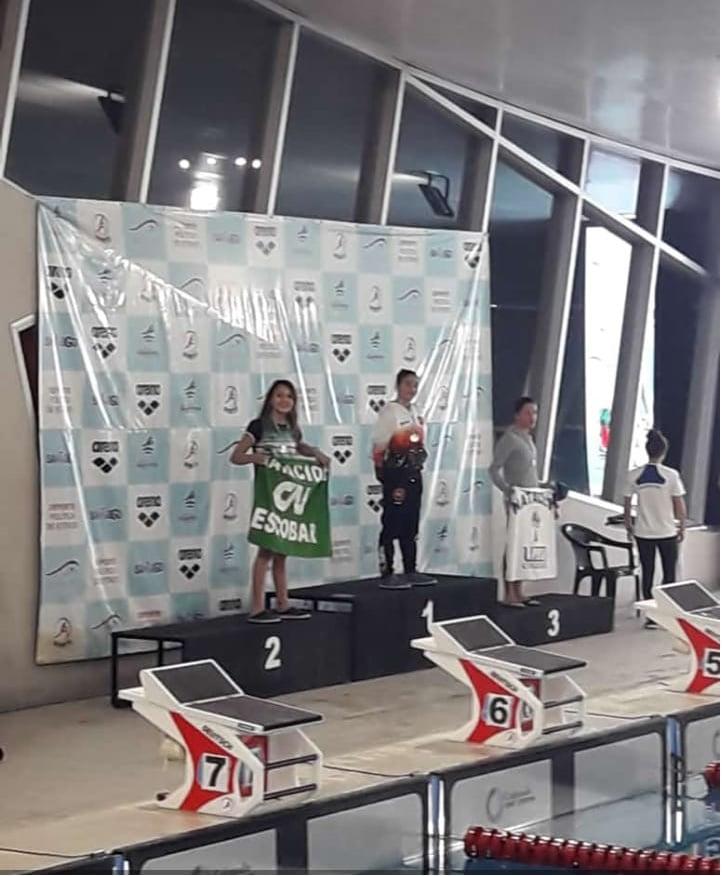 Lola Leguiza, Medalla de Plata en el Nacional de Natación
