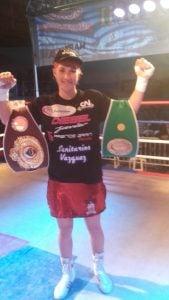 Macarena Ledesma es la nueva Campeona Latino OMB de peso ligero