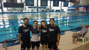 Cuatro nadadores de Independiente representaron a FANNBA en Brasil