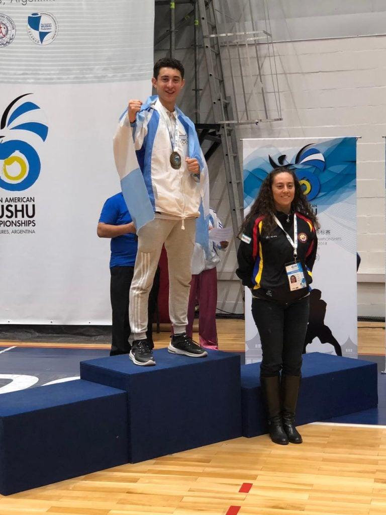 Federico Díaz se consagro campeón en el Torneo Panamericano de Wushu