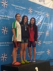Candela Nieves fue subcampeona argentina en 200 metros pecho