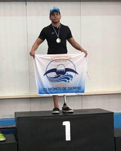 Amílcar Guerra, obtuvo dos medallas en el Open Argentino de Natación