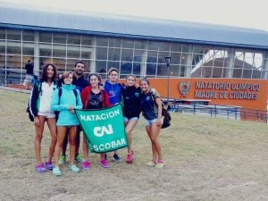 Macarena Giménez,  obtuvo  podios  en 100 y 200 metros pecho en Santiago del Estero