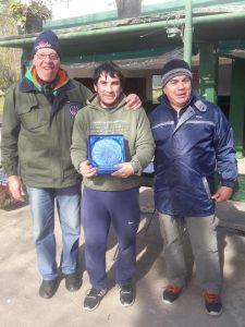 Marcos Domenech fue el ganador del concurso caña una mano
