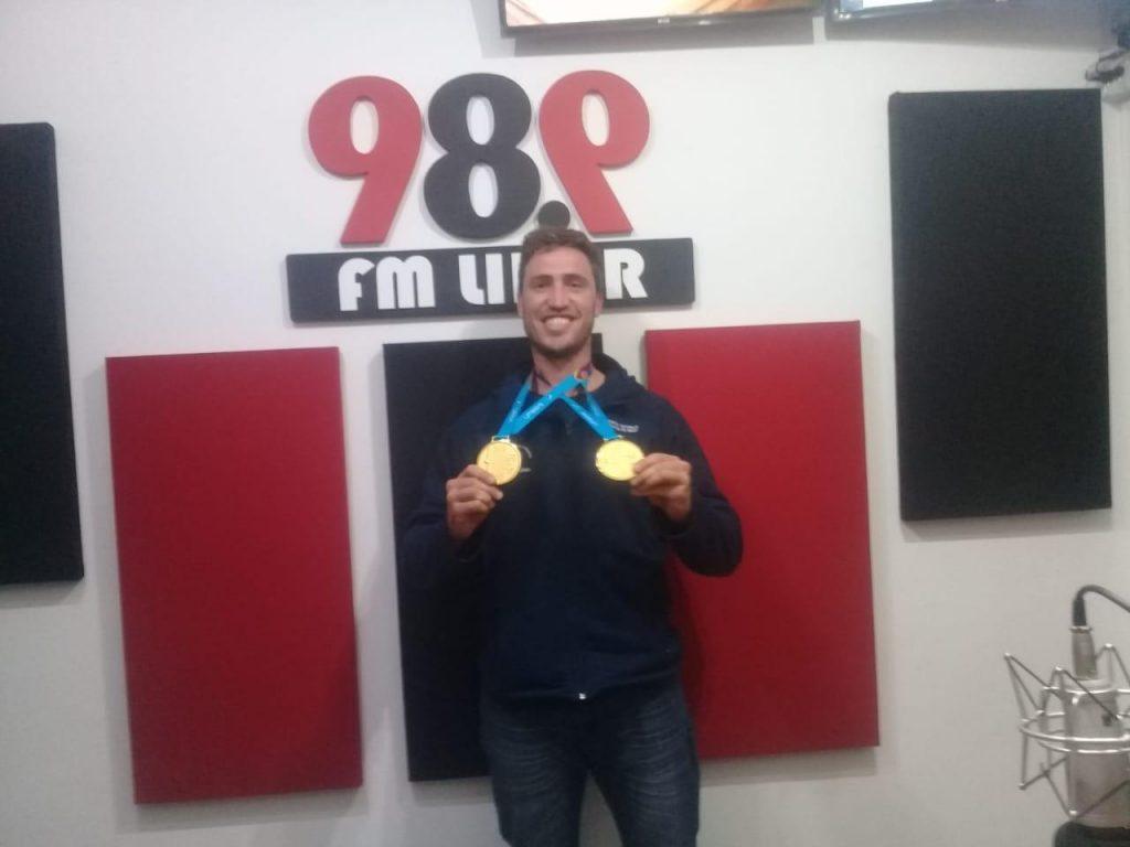 """Francisco Esteras con dos medallas de Oro en los Panamericanos: """"si  tu sueño es poder lograr cosas importantes, se puede"""""""