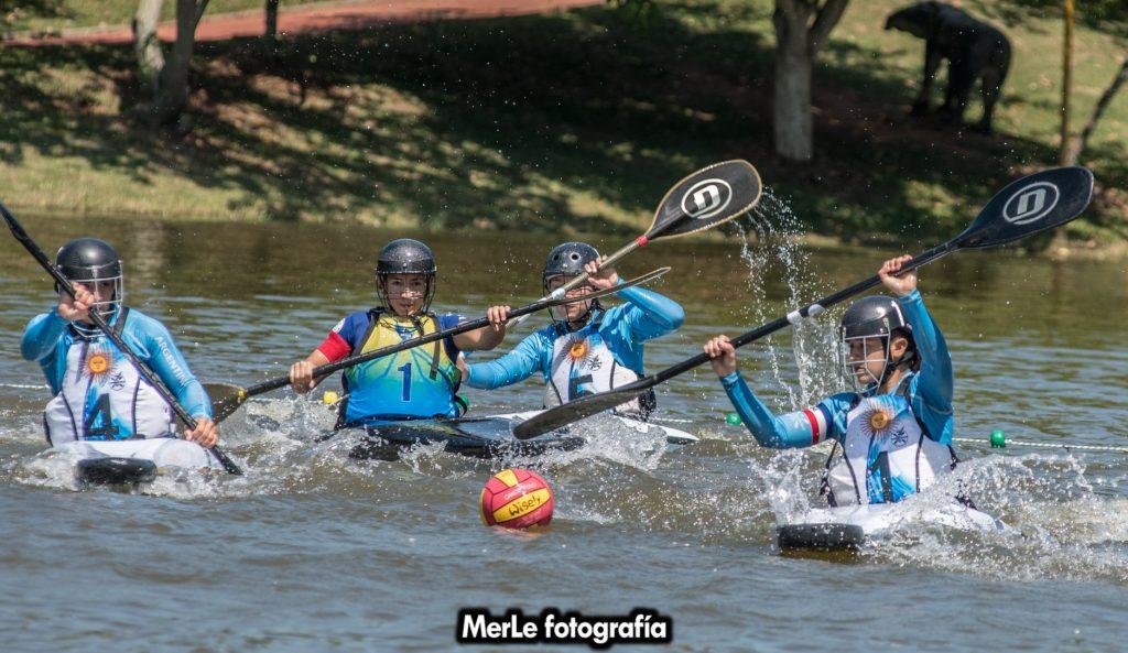 Comenzó la competencia para Argentina en el Panamericano de Kayak Polo