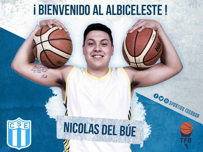 """Nicolás Del Búe: """"Cuando me llamó Sportivo, no dudé en venir"""""""