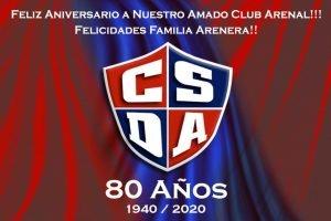 El Club Social y Deportivo Arenal cumple 80 años