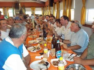 Los pescadores de Escobar almorzaron luego de la competencia