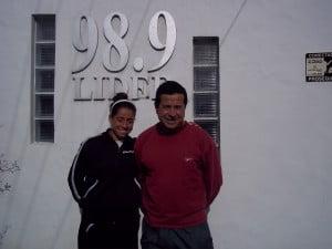 Daniela Farfán junto a su padre Francisco