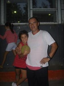 Oporto junto a su hija