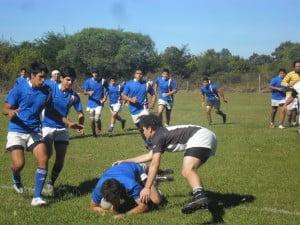 Imagen del partido amistoso ante Floresta RC.