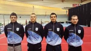 Mauro junto al equipo argentino en Anadia
