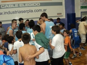 El festejo del equipo por el paso a la final
