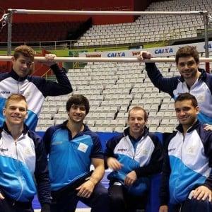 Los integrantes del equipo argentino