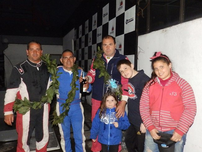 Dana  -Sanchez - Fernandez podio de la Copa Master
